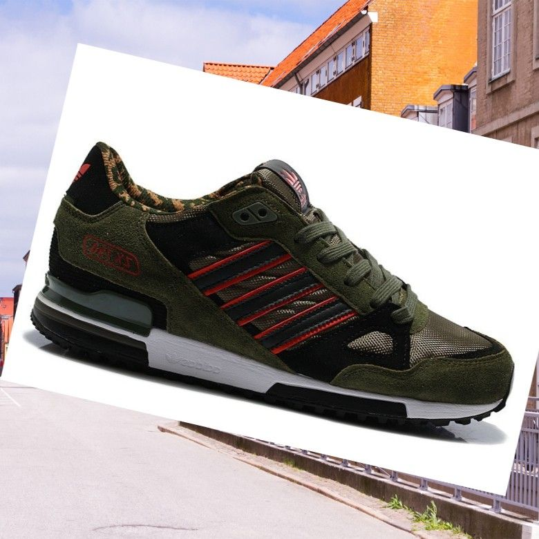 sports shoes ac9db 9946e Adidas Men Coaches Zx 750 Camo-Army-Green Black Red HOT SALE! HOT PRICE!