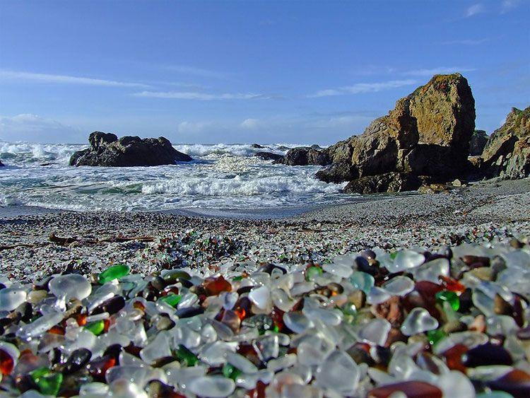 Glass Beach Sea Glass Beach Beach Glass