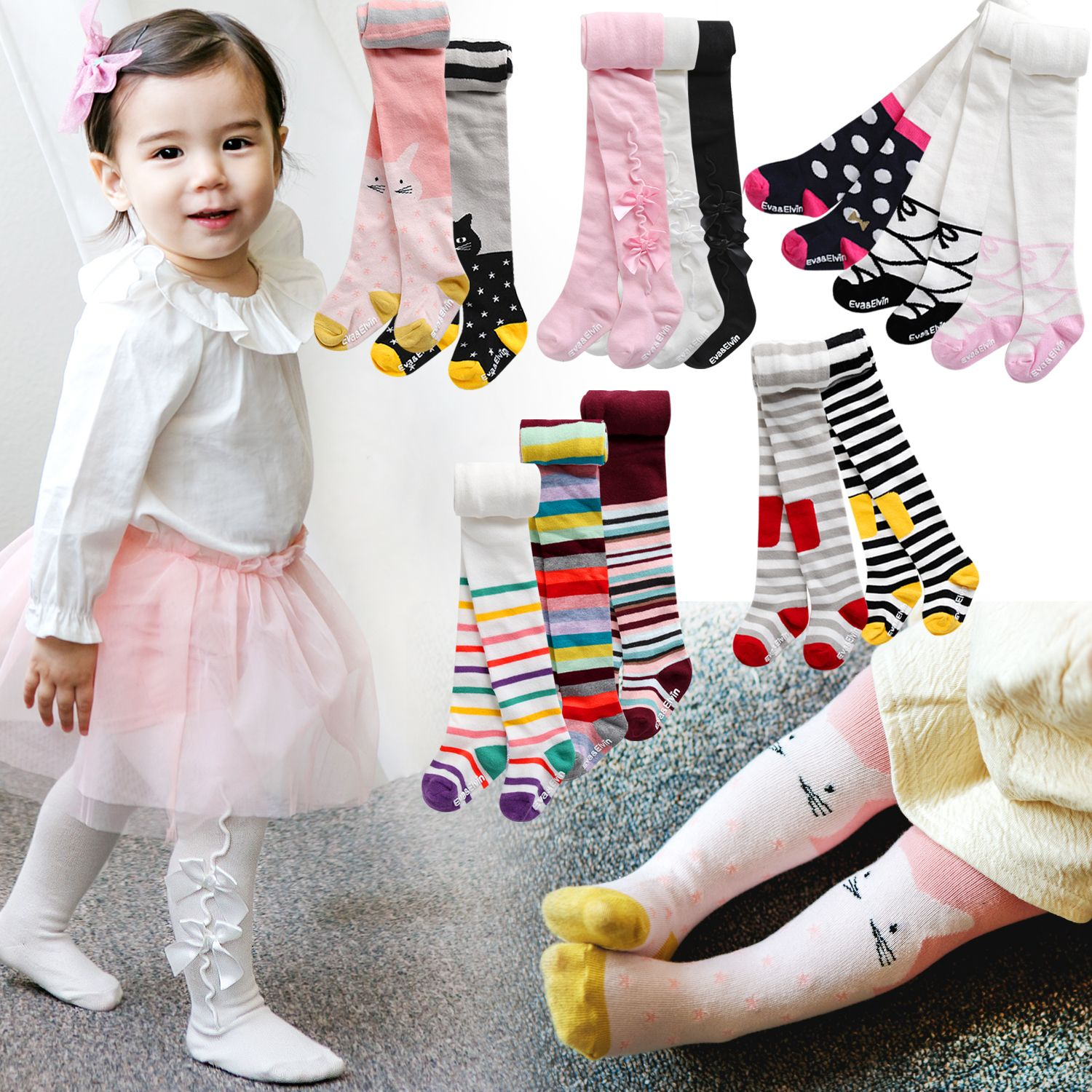 Details About Vaenait Baby Korea Kids Girls Tights Trousers Socks Cute Tights Set 100 210mm
