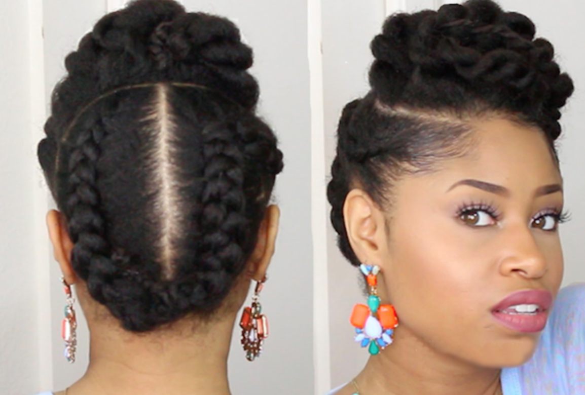 natural hair style for date night | natural updos and