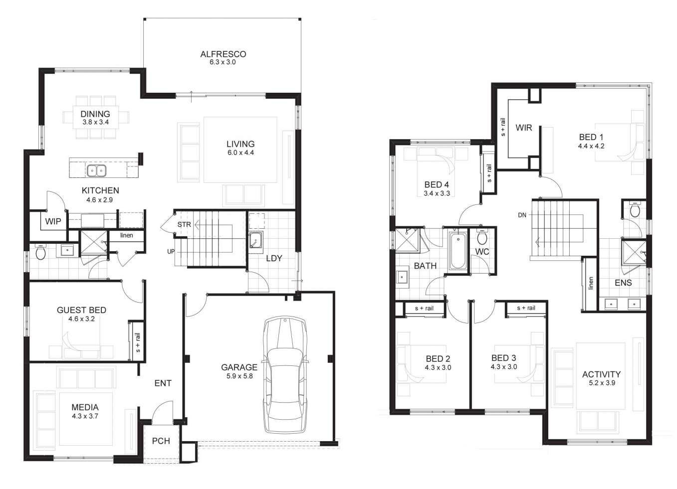 6 Bedroom 2 Story House Plans 3D and Images Of Bedroom ...