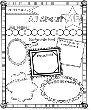 Free All About Me Posters For The Beginning And End Of The Year Sample Of My Year Long Memo About Me Poster All About Me Poster First Day Of School Activities