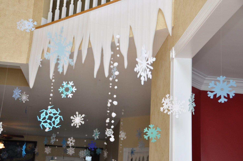 Frozen Birthday Party Decorations: Styrofoam Icicles Elsa's Castle Winter Wonderland Set of 9 #frozenbirthdayparty