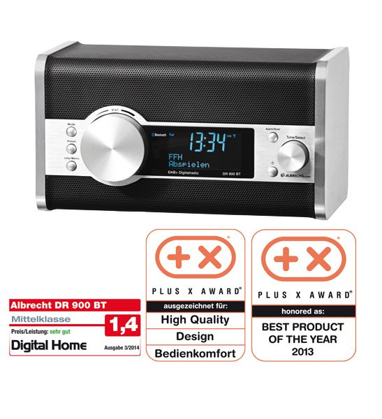 albrecht dr 900bt bluetooth digitalradio gesamt dab. Black Bedroom Furniture Sets. Home Design Ideas