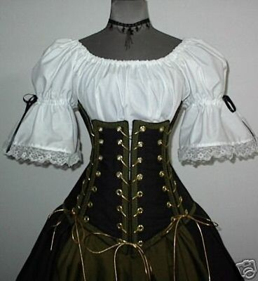 Renaissance Pirate under bust corset