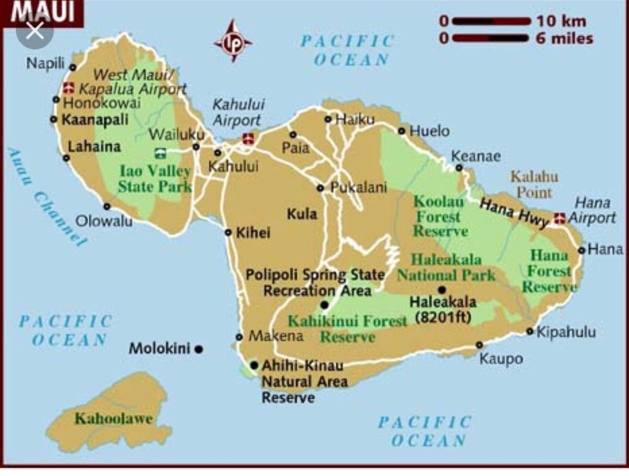 Pin By Beth Ellis On Maui Info With Images Maui Map Map Of