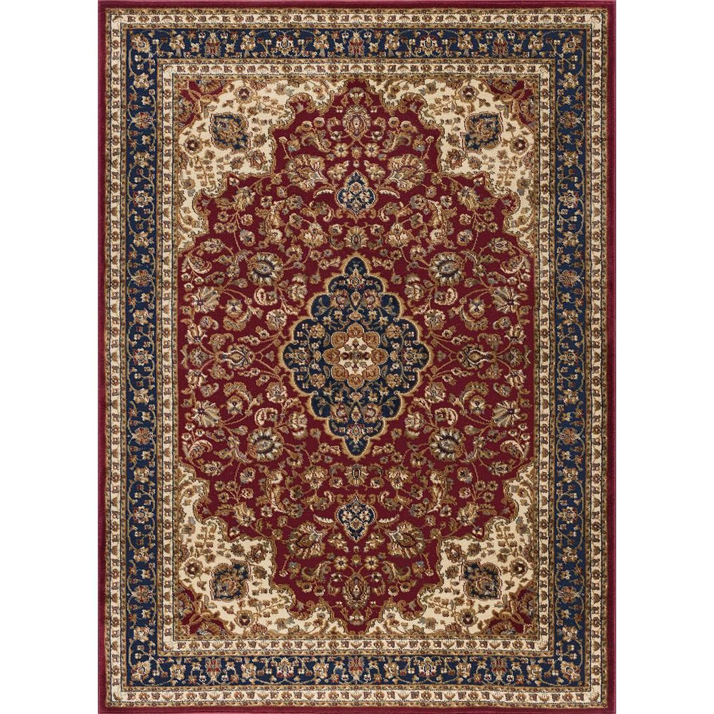 Tayse Rugs Sensation Red 11 Ft X 15 Ft Transitional Area Rug Traditional Area Rugs Area Rugs Navy Area Rug