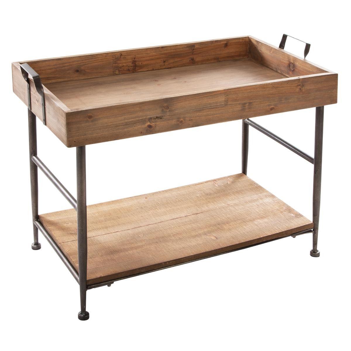 Dimensions L 72 5 X L 38 7 X H 53 Cm Table Cafe Service De Table Mobilier De Salon