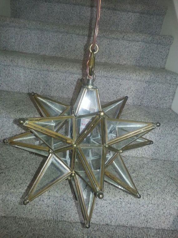 moravian star shaped pendant light clear glass with bronze trim best pendant lighting. Black Bedroom Furniture Sets. Home Design Ideas