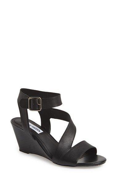 d86f5534c15b Steve Madden  Stipend  Wedge Leather Sandal (Women)