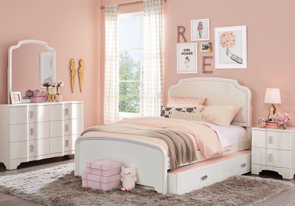 Rylee White 5 Pc Full Upholstered Bedroom in 2019 | Bedroom ...