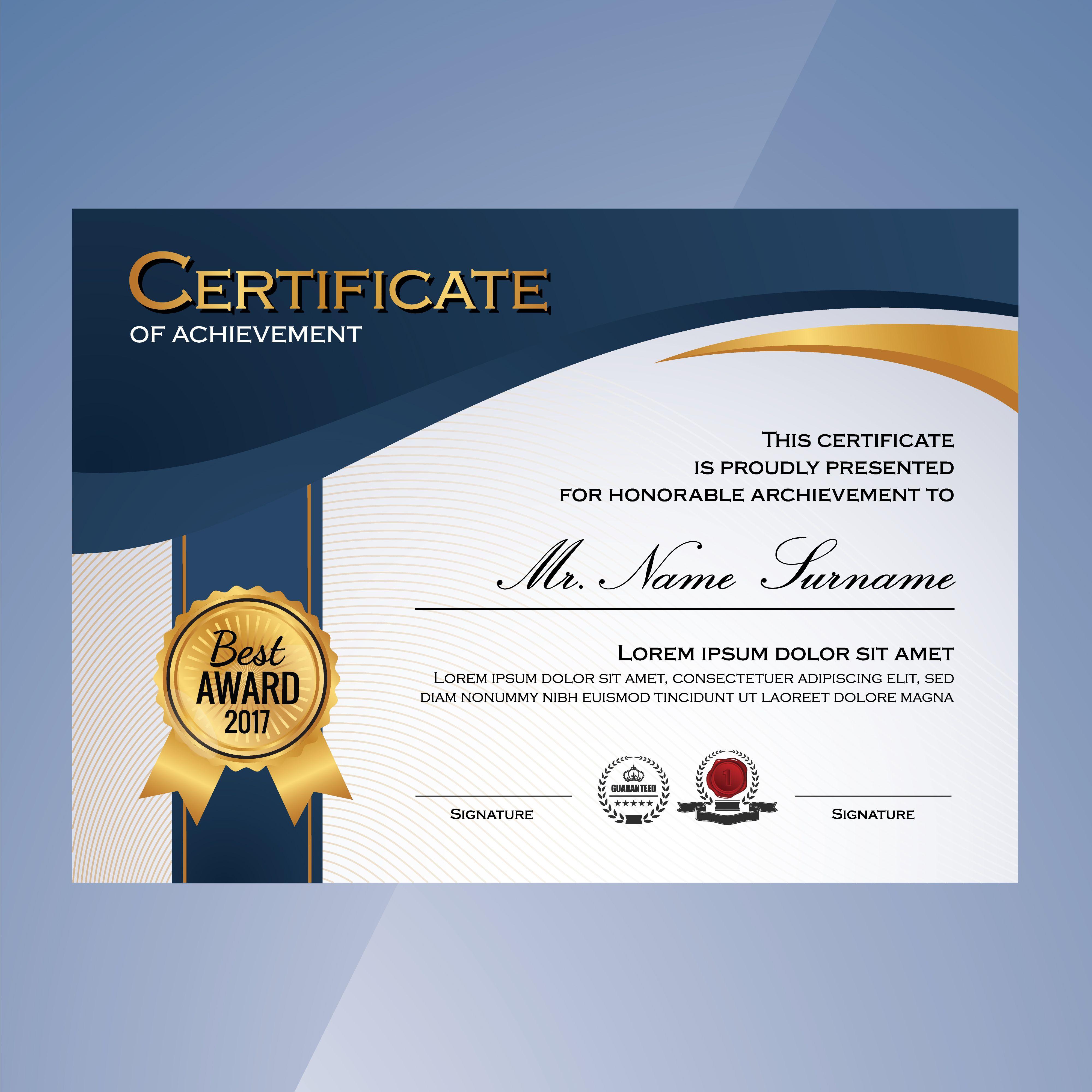 Download Elegant Certificate Template For Free Plantillas De