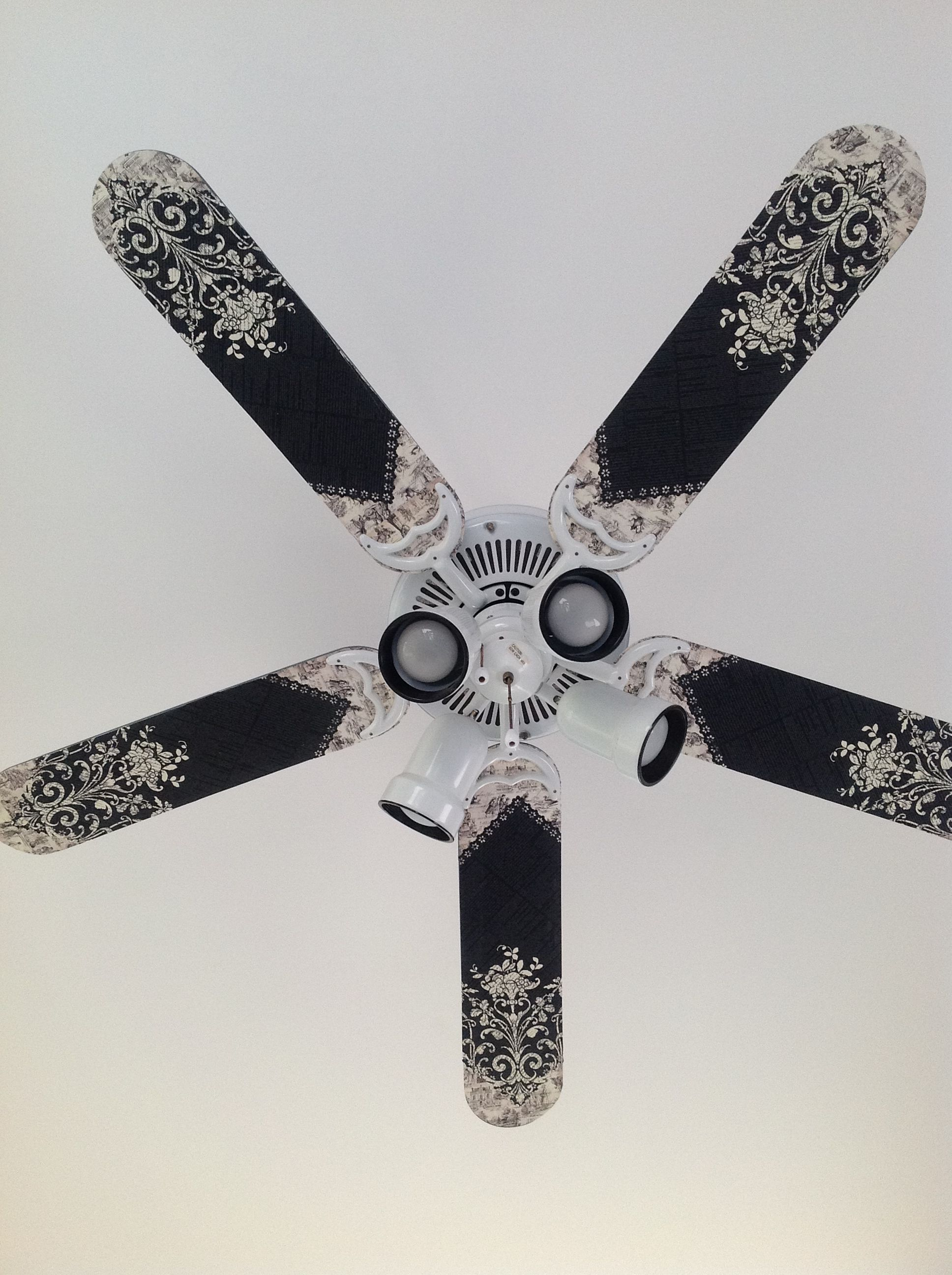 My Take On Modge Podge Ceiling Fan Redo Thank You For The