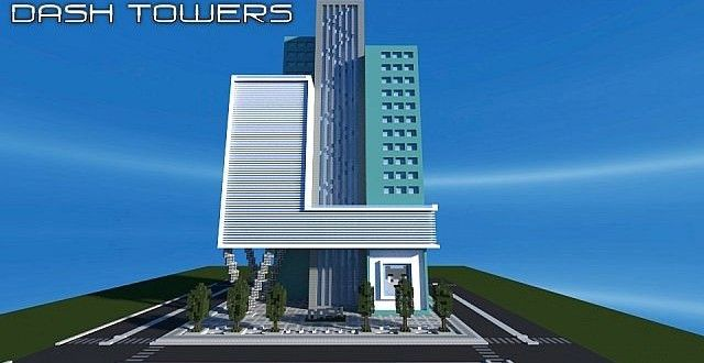 . Dash Towers   Modern Skyscraper   Minecraft Building Inc   Minecraft