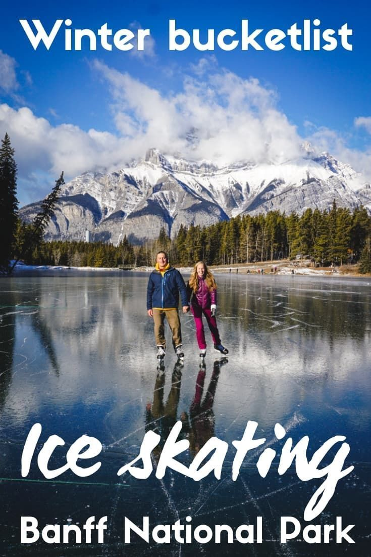 Photo of Ice skating is the ultimate winter adventure in the Canadian Rockies …