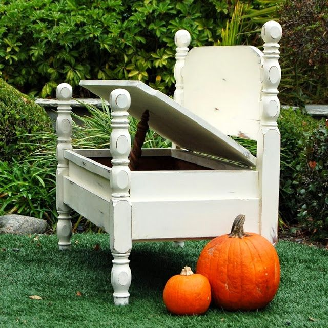 When An Old Bed Becomes A Bench Be Inspired The Tutorial