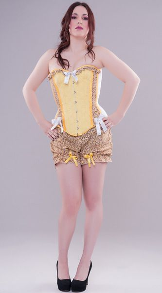 53d810a51 Floral print and embroidered cotton overbust corset with matching bloomers  from Miss Self.Destructive s Retro Candy Spring Collection