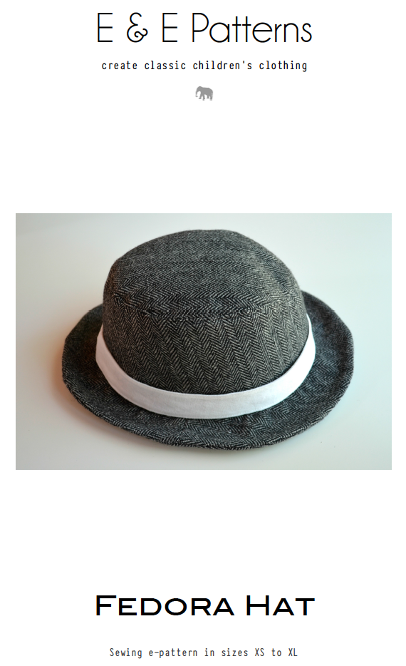 Fedora e-pattern to purchase. $9 Elegance and Elephants. Cool site ...