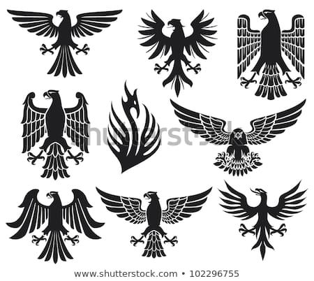heraldic eagle set kaufen sie diese illustration bei. Black Bedroom Furniture Sets. Home Design Ideas