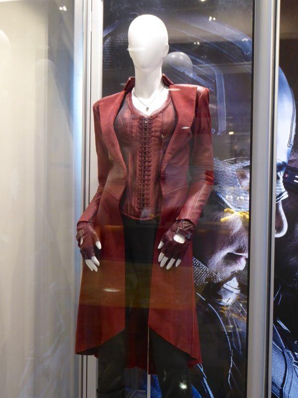 Elizabeth Olsen S Scarlet Witch Costume From Captain America Civil War On Display Original Film C Scarlet Witch Costume Scarlet Witch Scarlet Witch Cosplay