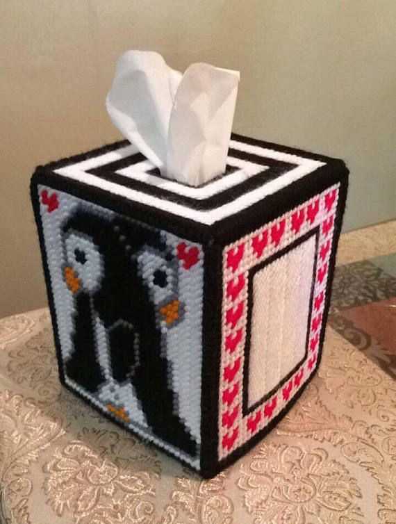 Delaspe Bo/îte /à mouchoirs en plastique avec couverture magn/étique le bureau pour la maison