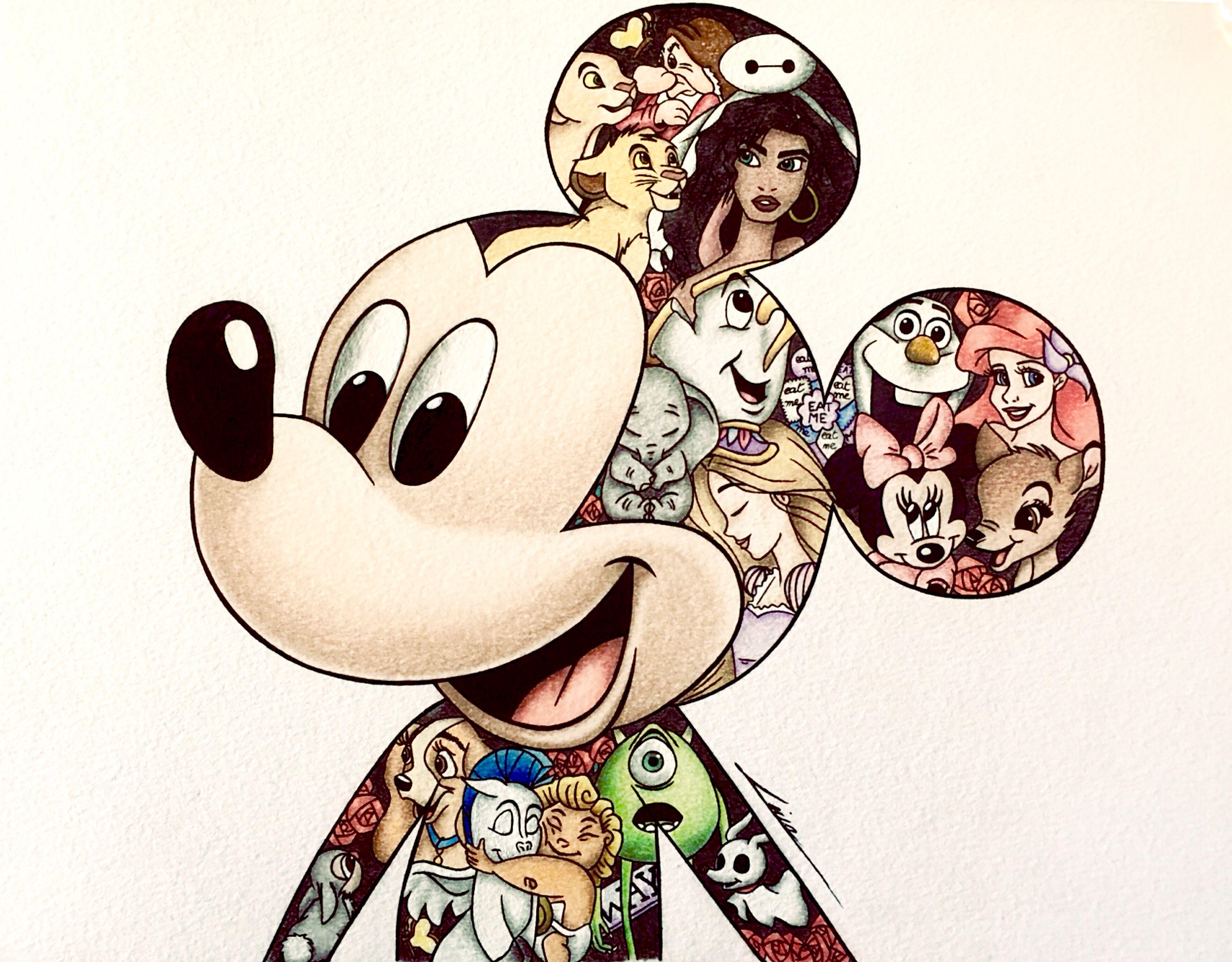 Disney Drawing Dessins Disney Couleurs Pastel Dessin