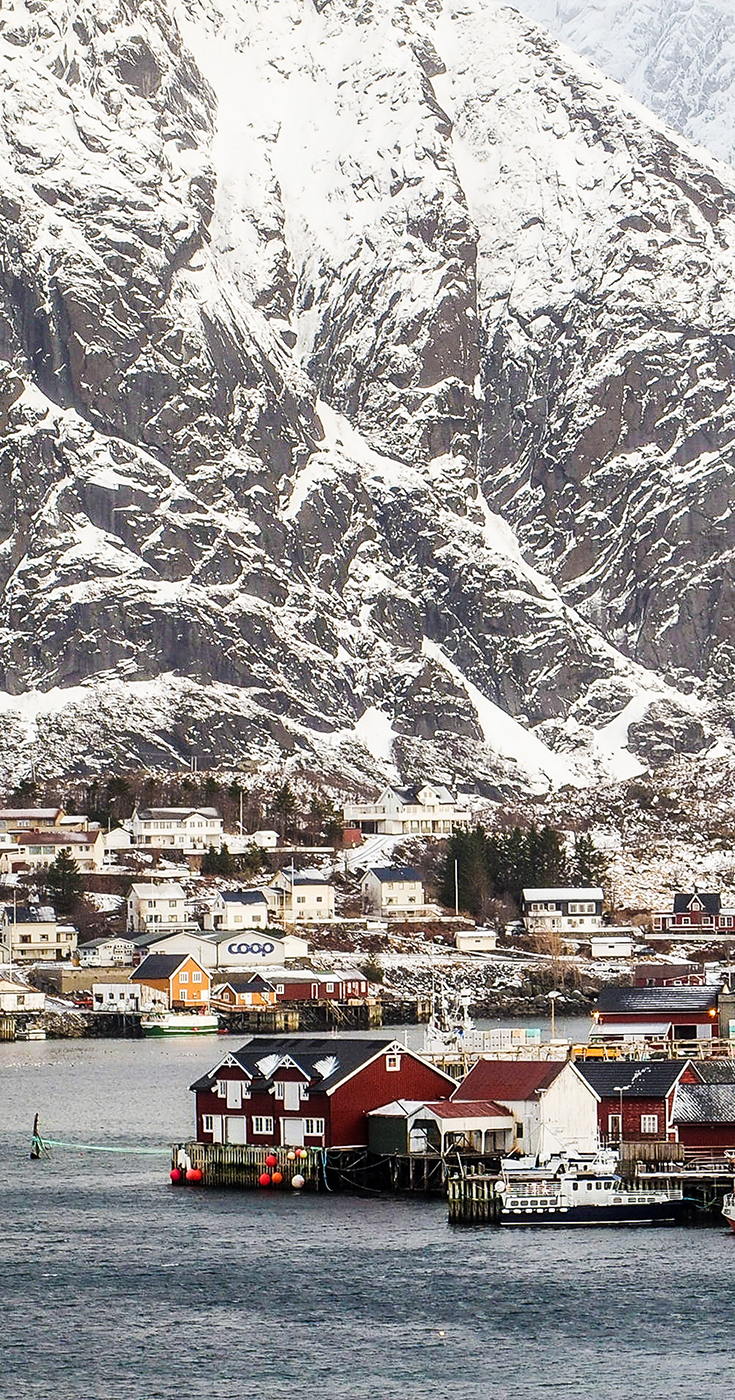 Reine, a fishing village and the administrative centre of the municipality of Moskenes in Nordland county. Today, many thousands of people visit anually, despite it's remote location in the Lofoten archipelago.
