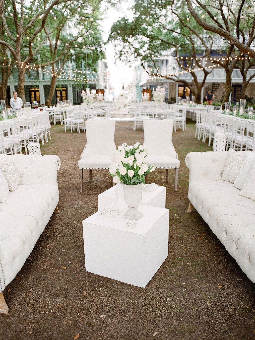 Seaside DeBicci Lawn Spring Wedding in Seaside White Wedding decor ...