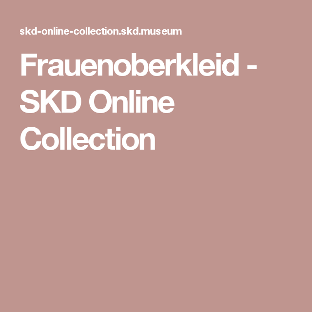 Frauenoberkleid - SKD Online Collection