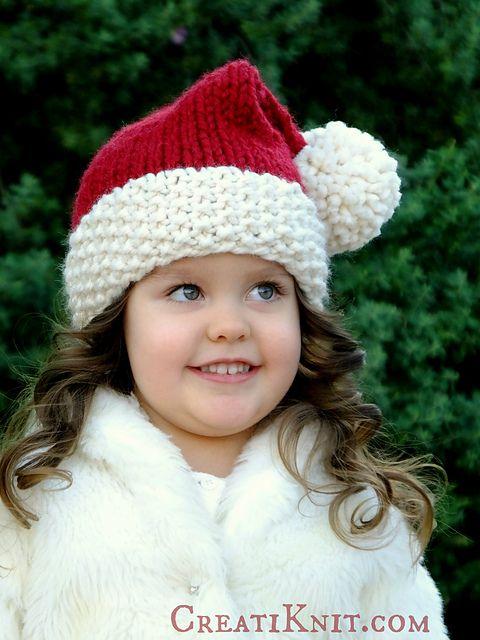 507cea22bbf Ravelry  The Santa Cutie Hat pattern by Creati Knit Free pattern