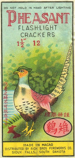 Pheasant C2 12's firecracker pack label