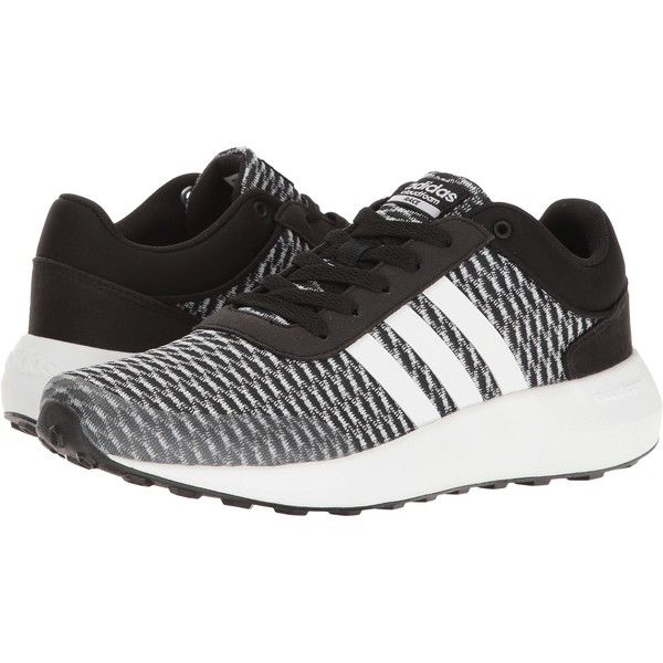 adidas Cloudfoam Race (Black/White/Black) Women's Shoes ($50 ...