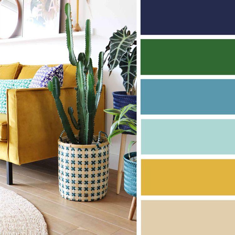 Wandfarben Farbpalette Gelb: Welche Farbe Passt Zu Gelb? Wohnideen Und