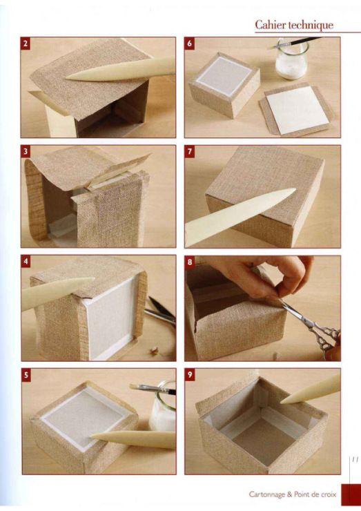 Technique Decorer Boite En Carton Cartonnage Boite Boite En Tissu