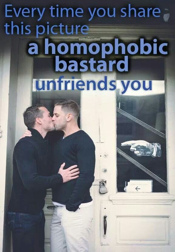 I don't care if you unfriend me, I care about gay pride. Go hide in a closet, you homophobic bastard.