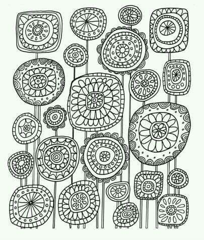 Pin de seulki lee en illustration | Pinterest | Flores abstractas ...