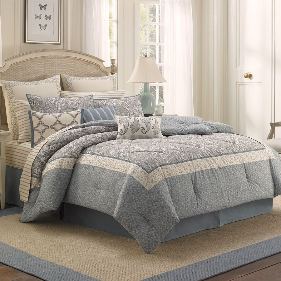 LauraAshley Whitfield Comforter Set. Beautiful light