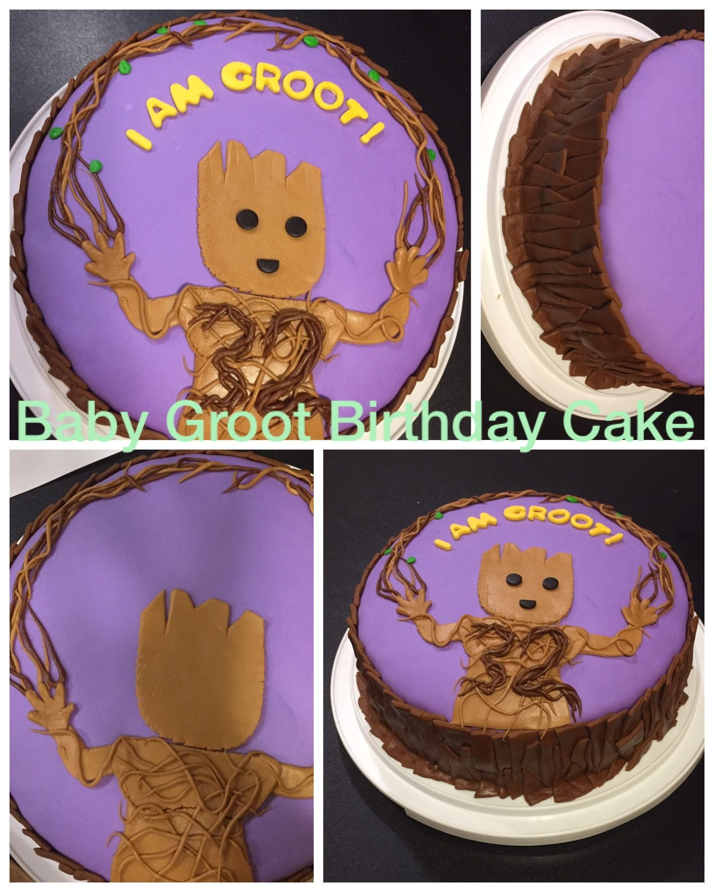 Baby Groot birthday cake from Guardians of the Galaxy vol 2 for my