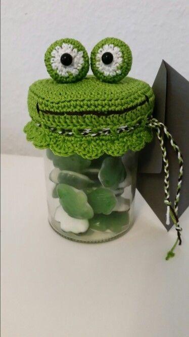 Geldgeschenk Hakeln Frosch Fur Ein Marmeladenglas Frog Collect