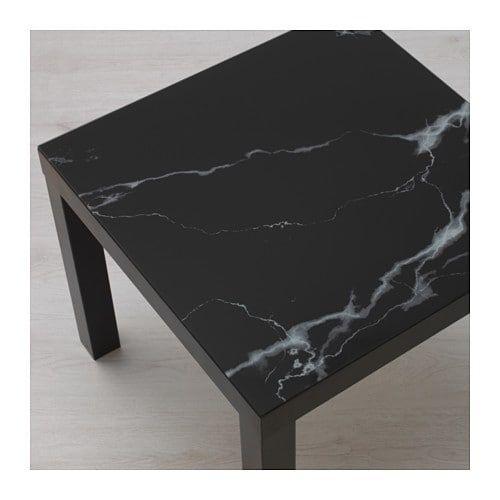Lack Plateau En Verre Marbre Noir Ikea Hacks In 2019 Ikea Table Ikea Lack Table