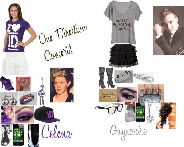 """""""One Direction Concert! Celena and Gwyneveire"""" by kiara-fleming ❤ liked on Polyvore"""
