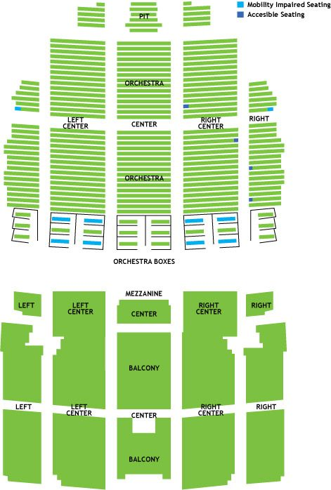 Home  Wang Theatre  Seating Chart Citi Performing Arts Center