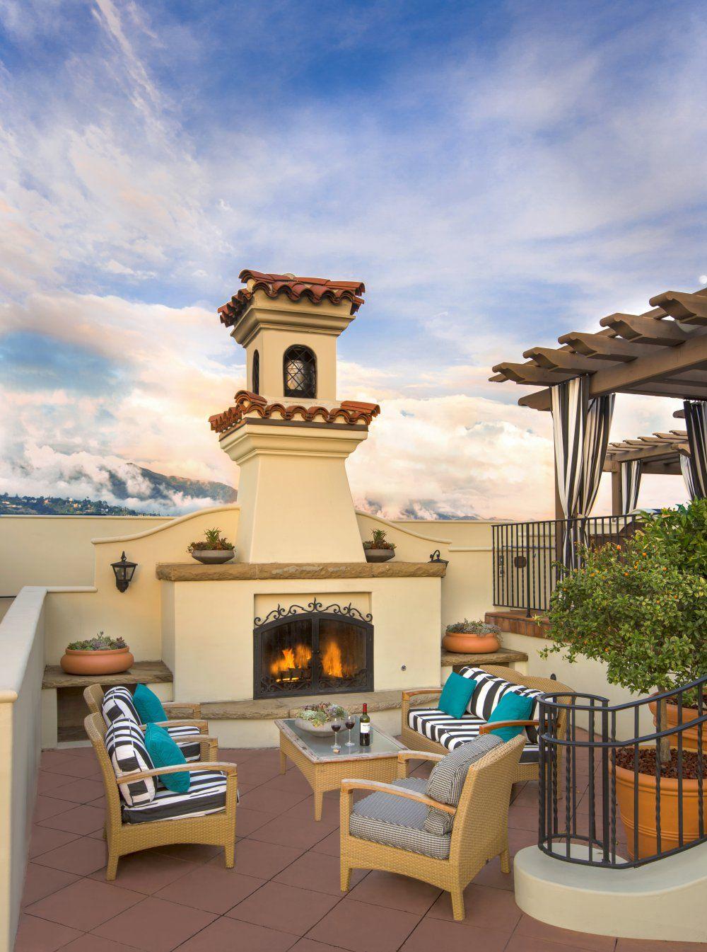 Canary Hotel A Luxury Kimpton Boutique Hotel In Santa Barbara Ca Santa Barbara Hotels Outdoor Fireplace Outdoor
