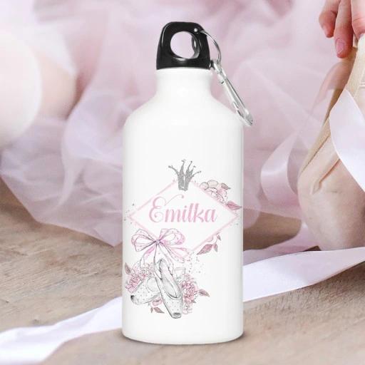 Bidon Dla Dziewczynki Skarby Baletnicy Z Imieniem Bottle Water Bottle Reusable Water Bottle