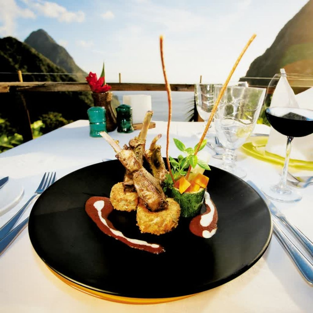 Feeling hungry? At Ladera, you can expect dinner with a view. Enjoy  eclectic and innovative men… | Ladera resort, Caribbean islands, Luxury  caribbean resorts