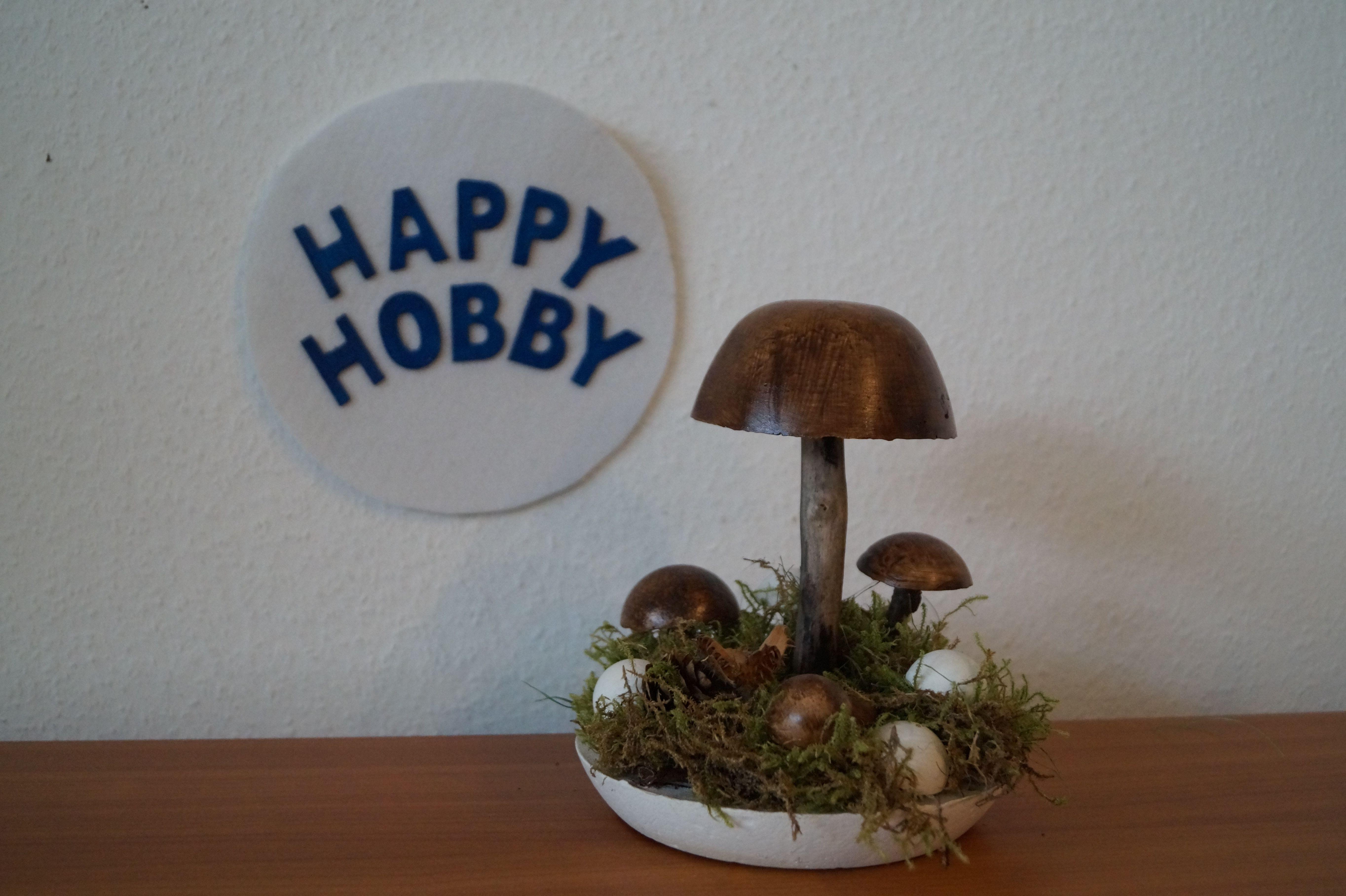 3D Pilze aus Gips und Ast, Herbst, Deko, DIY Youtube | DIY Basteln ...