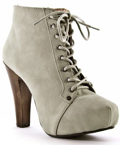 00fe8e73d417 The granny lace-up boot goes modern with a trendy chunky wooden heel and  covered platform sole. A stitched square toe gives a refreshing new  silhouette to a ...