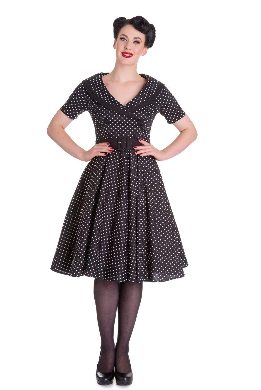 Vestido estilo años 50 modelo Mimi de la firma Hell Bunny.Preciosa capa y largo midi.