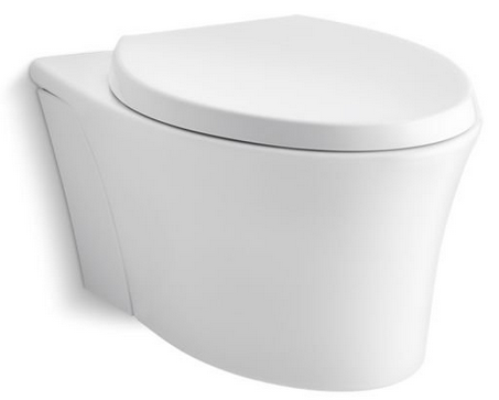 Kohler K 6299 0 Veil Wall Hung Toilet Cool Walls Bath Design