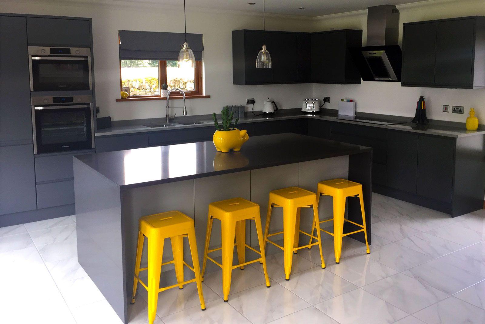 An Innova Luca Graphite Handelless Modern Kitchen in 2019